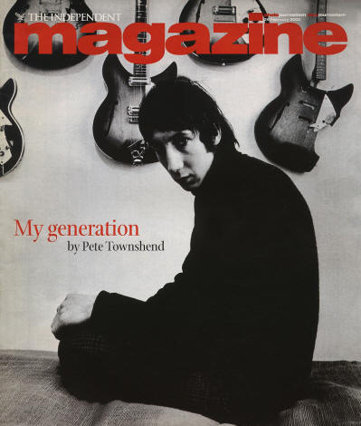Pete Townshend - UK - The Independent Magazine - February 26, 2000