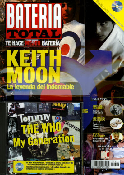 Keith Moon - Spain - Bateria - December, 2000