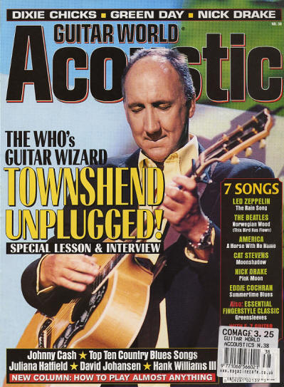 Pete Townshend - UK - Guitar World Acoustic - Summer 2000