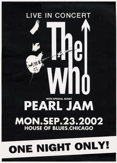 The Who - House Of Blues - September 23, 2002 Chicago, IL USA (Promo)