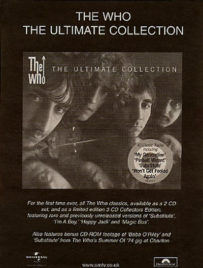 The Who - The Ultimate Collection - 2002 UK
