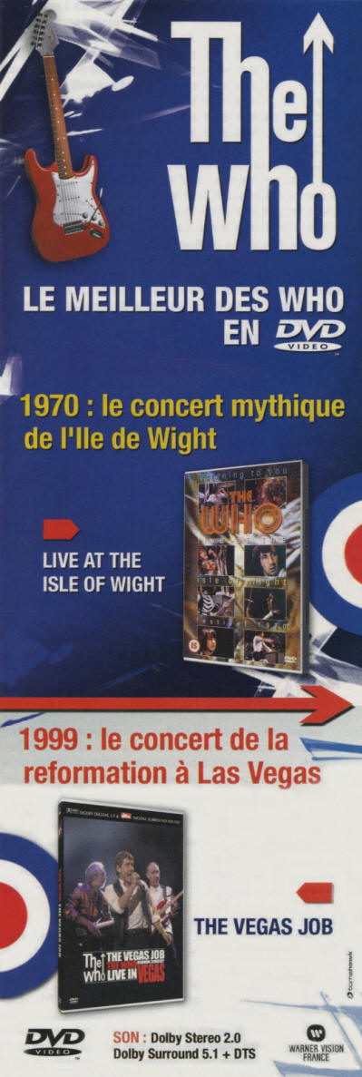 The Who - Live At The Isle Of Wight Festival / The Vegas Job - 2004 France