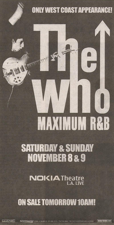 The Who - Live In Los Angeles, CA - November 8 & 9, 2008 USA