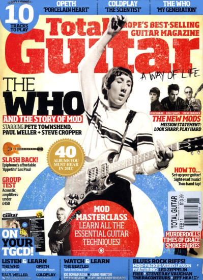 Pete Townshend - UK - Total Guitar - February, 2011 (Outer Cover)