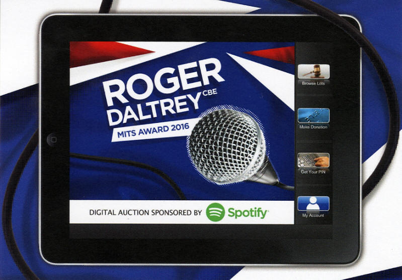 The Who - Roger Daltrey 2016 Music Industry Trusts (MITS) Award: