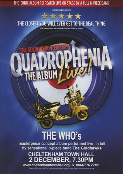 The Goldhawks - Quadrophenia - December 2, 2018 UK Flyer