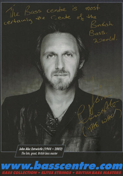 John Entwistle - Bass Centre - 2019 UK