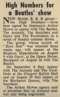 The High Numbers - August 1, 1964