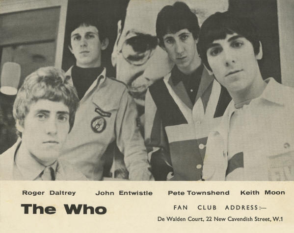 The Who - Fan Club Flyer 1965 UK