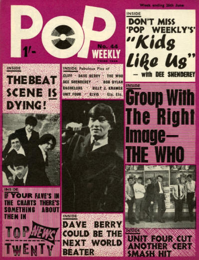 The Who - UK - Pop Weekly - June 26, 1965