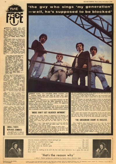 The Who - UK - Record Mirror - November 6, 1965 (Back Cover)