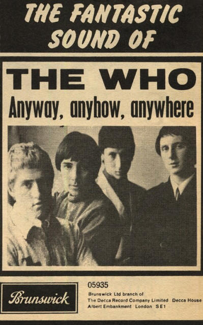 The Who - Anyway, Anyhow, Anywhere - 1965 UK