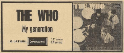 The Who - My Generation LP - 1965 UK