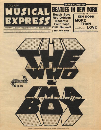 The Who - UK - New Musical Express - August 26, 1966