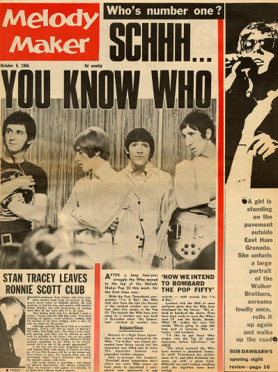 The Who - UK - Melody Maker - October 8, 1966