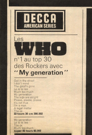 The Who - My Generation - 1966 France