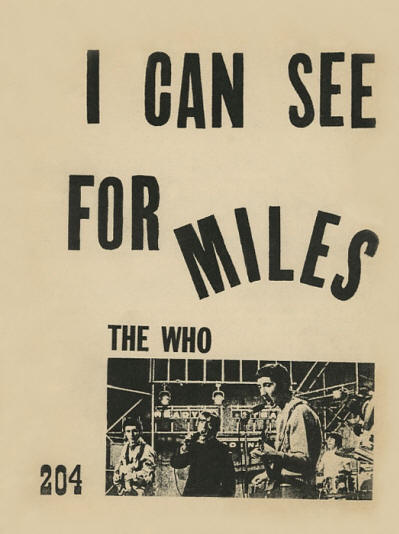 The Who - Australia - I Can See For Miles - 1967