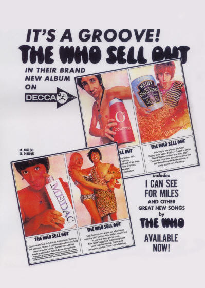 The Who - The Who Sell Out - 1967 USA (reproduction)