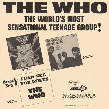 The Who - The World's Most Sensational Teenage Group - 1967 USA Ad