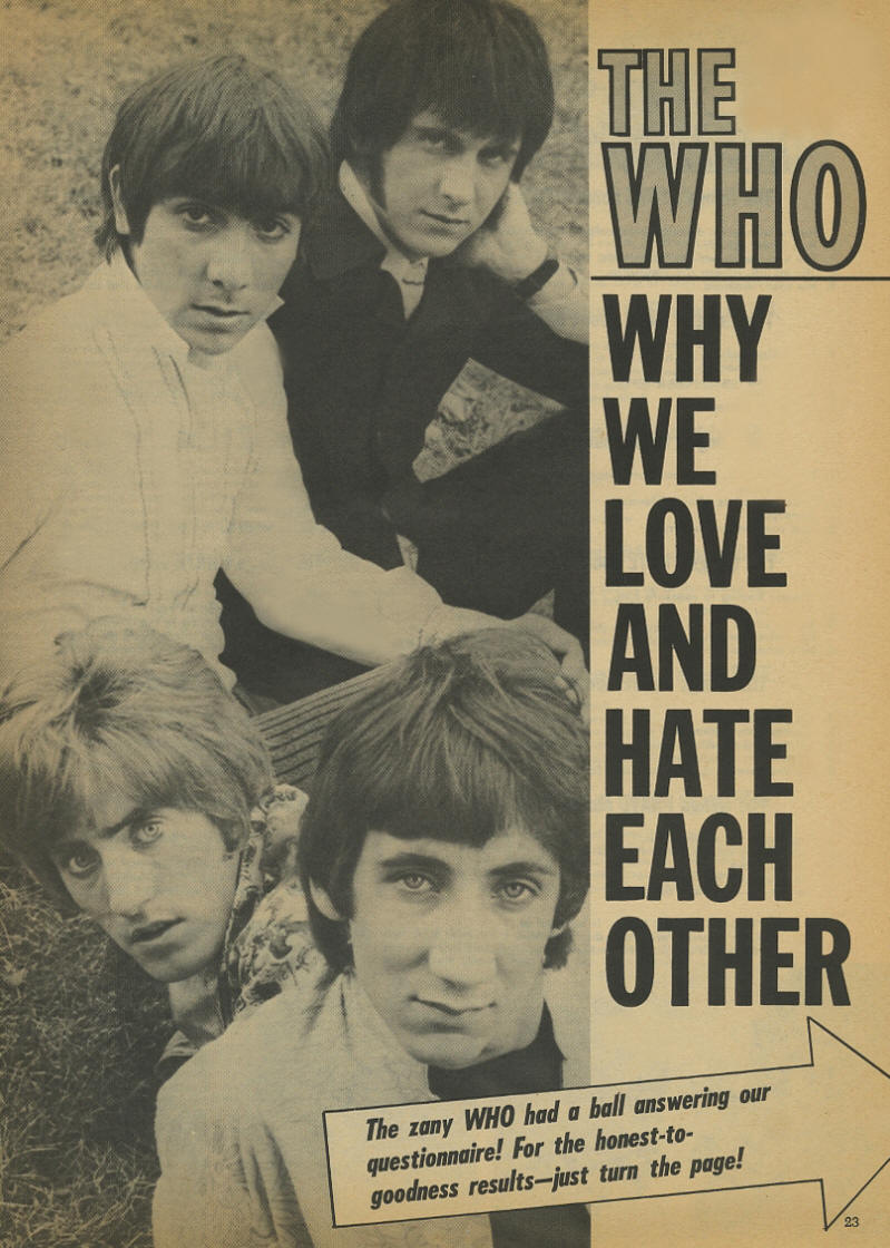 The Who - Why We Love And Hate Each Other - Teen Life - 1968 USA