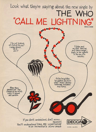 The Who - Call Me Lightning - 1968 USA