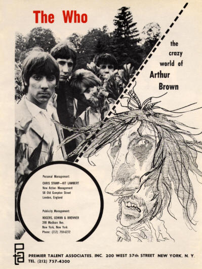 The Who - The Who & The Crazy World Of Arthur Brown - 1968 USA