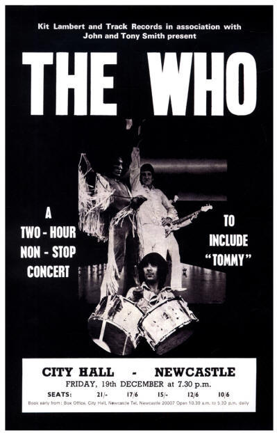 The Who - City Hall, New Castle, UK - December 19, 1969 England (Reproduction)