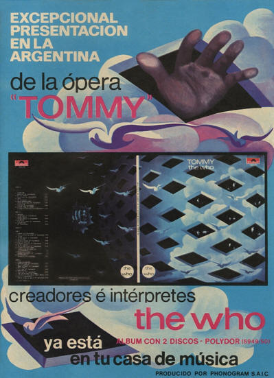 The Who - Tommy - 1971 Argentina