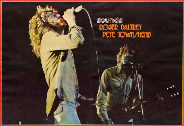 Roger Daltrey & Pete Townshend - 1971 UK - From Sounds 12/21/71