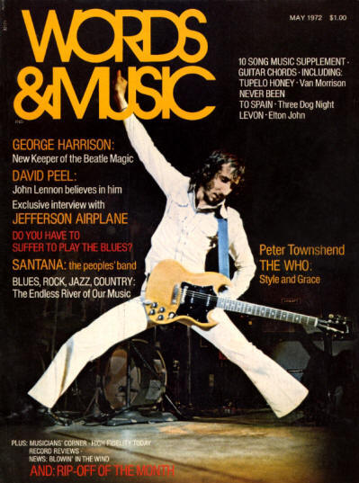 Pete Townshend - USA - Words & Music - May, 1972
