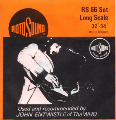 John Entwistle - Rotosound Strings UK 1972