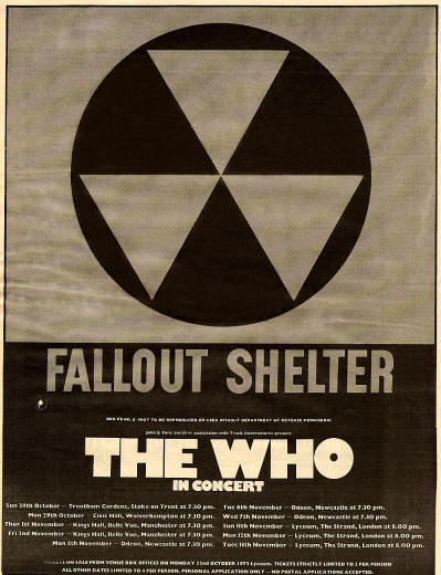 The Who In Concert (Fallout Shelter) - 1973 UK