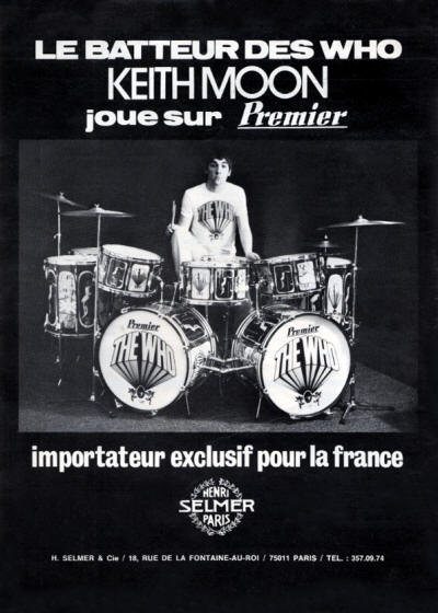 Keith Moon - Premier Drums - 1973 France