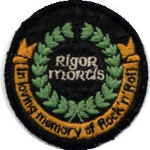 John Entwistle - Rigor Mortis Patch - UK 1973