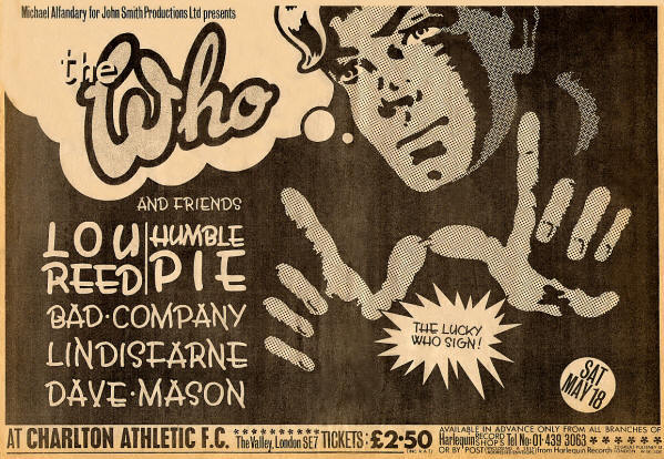 The Who - Charlton - 1974 UK