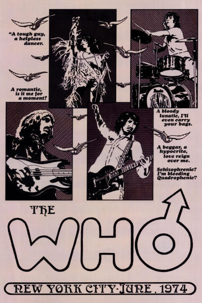 The Who - Madison Square Garden, New York, NY - June, 1974 (Reproduction)