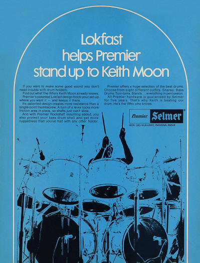 Keith Moon - Premier Drums - 1974 USA