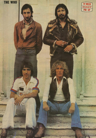 The Who - 1975 Australia Pinup
