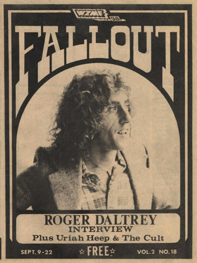 Roger Daltrey - USA - Fall Out - September 9-22, 1975