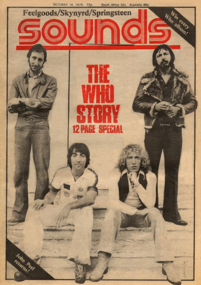 The Who - UK - Sounds - October 18, 1975