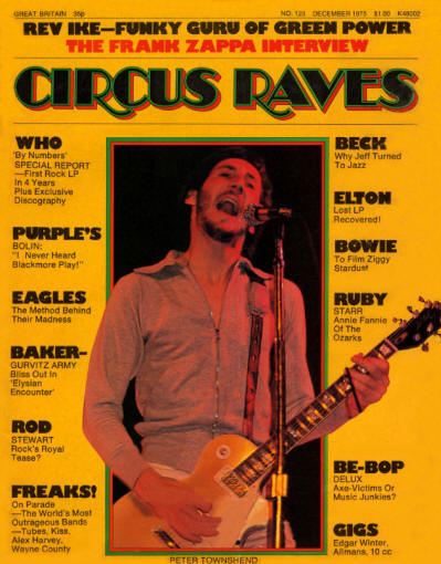 Pete Townshend - USA - Circus Raves - December, 1975