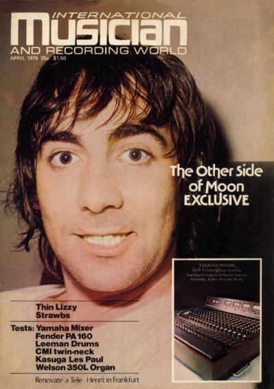 Keith Moon - UK - International Musician - April, 1976