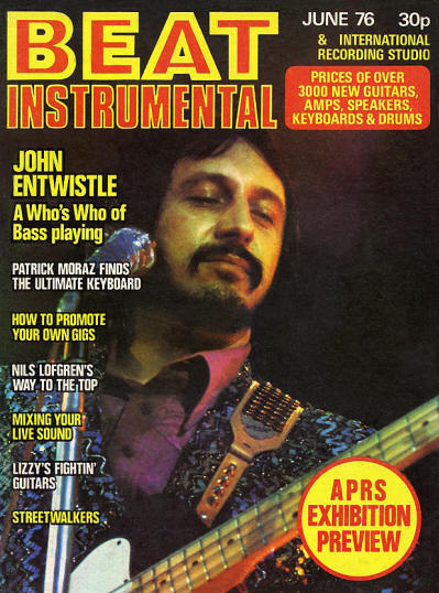 John Entwistle - UK - Beat Instrumental - June, 1976