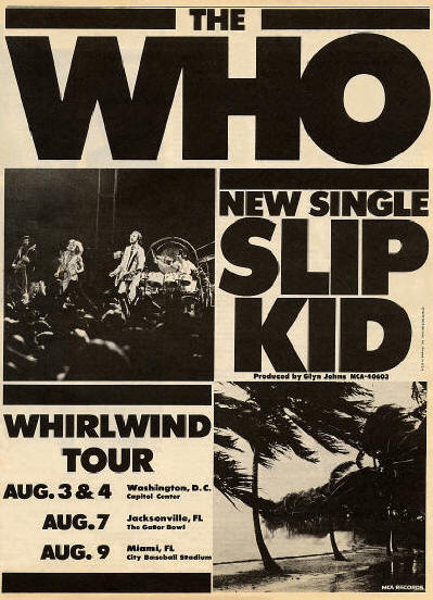 The Who - Slip Kid & Who Tour - 1976 USA