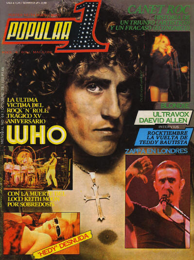 The Who - Spain - Popular 1 - October, 1978