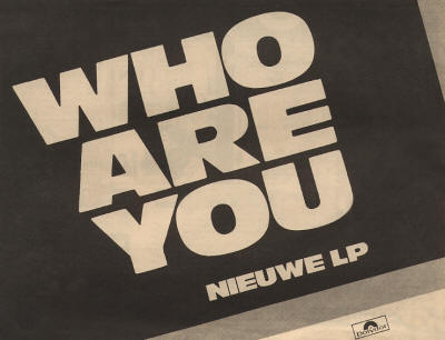 The Who - Who Are You - 1978 Holland