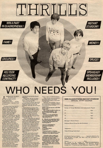 The Who - Who Needs You - 1978 UK