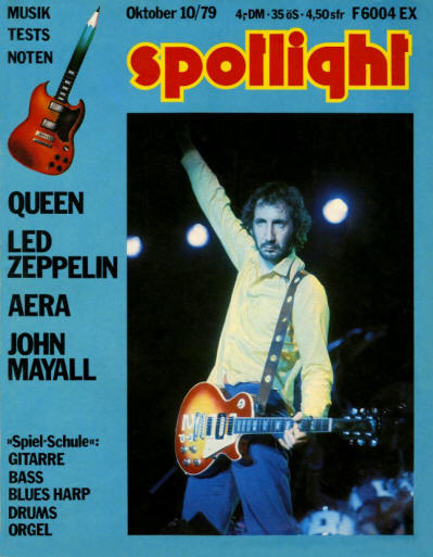 Pete Townshend - Germany - Spotlight - October, 1979