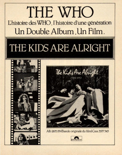 The Who - The Kids Are Alright - 1979 France