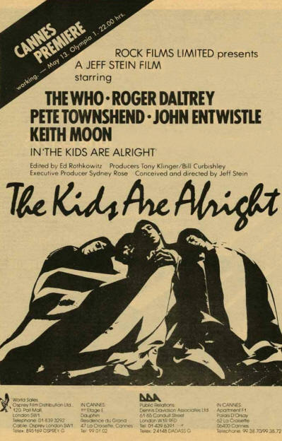 The Who - The Kids Are Alright - 1979 USA